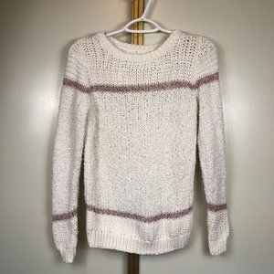 ANN TAYLOR LOFT off white CABLE KNIT Sweater XS